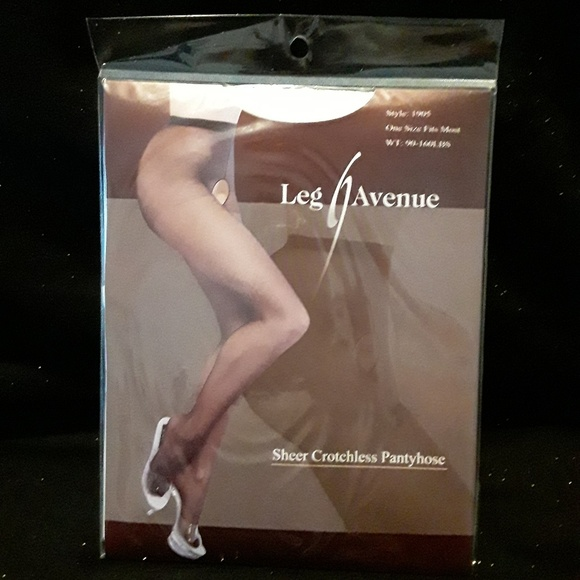 0b5670d33cb NWT white sheer crotchless pantyhose